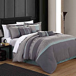Chic Home Euphoria 12-pc. Stripes Complete Bedding Set with Sheets