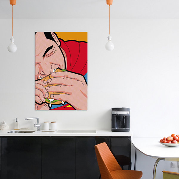 Icanvas Super-Burger Canvas Art