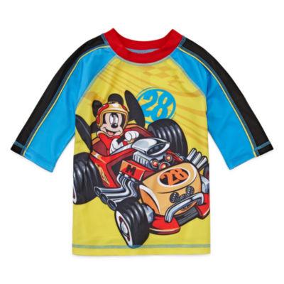 Disney Boys Mickey Mouse Rash Guard-Big Kid