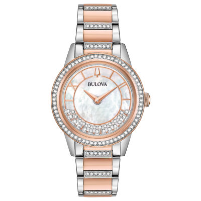 Bulova Womens Two Tone Bracelet Watch-98l246