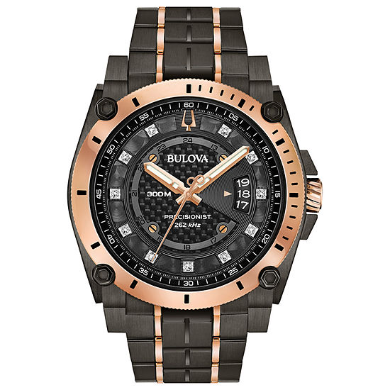 Bulova Precisionist Mens Two Tone Stainless Steel Bracelet Watch-98d149
