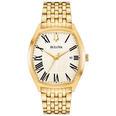 Bulova Mens Gold Tone Bracelet Watch-97b174