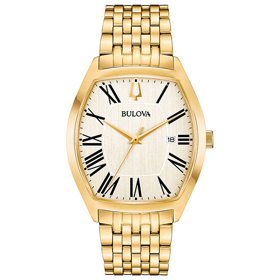 Bulova Ambassador Mens Gold Tone Stainless Steel Bracelet Watch-97b174