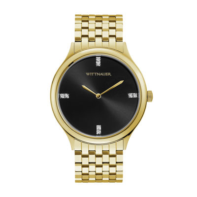 Wittnauer Mens Gold Tone Bracelet Watch-Wn3074