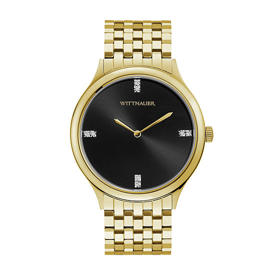Wittnauer Mens Gold Tone Bracelet Watch-Wn3074