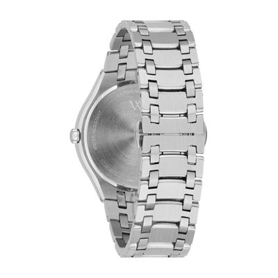 Wittnauer Mens Silver Tone Bracelet Watch-Wn3084