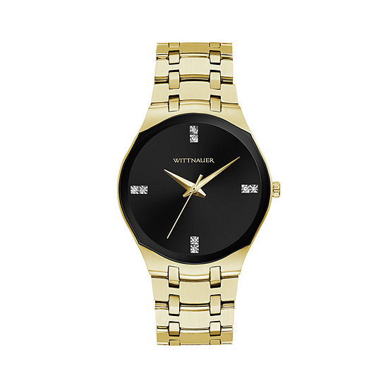 Wittnauer Womens Gold Tone Bracelet Watch Wn4095