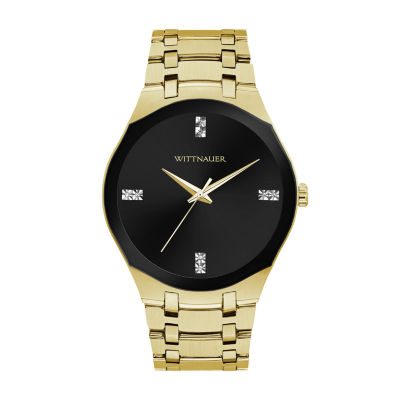 Wittnauer Mens Gold Tone Bracelet Watch-Wn3085