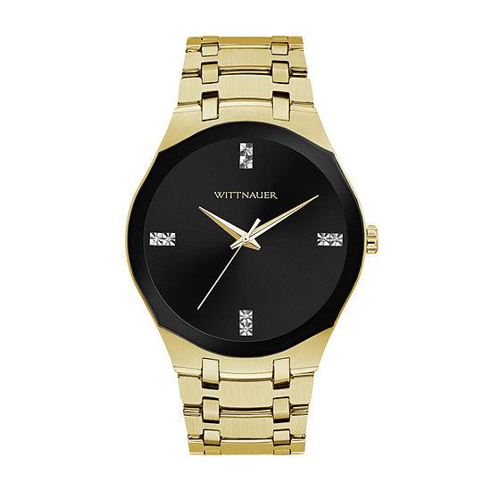 Wittnauer Mens Gold Tone Bracelet Watch-Wn3085