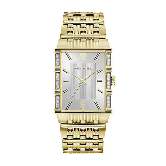 Wittnauer Mens Gold Tone Bracelet Watch Wn3076