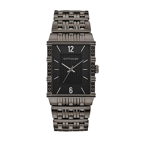 Wittnauer Mens Silver Tone Bracelet Watch-Wn3077