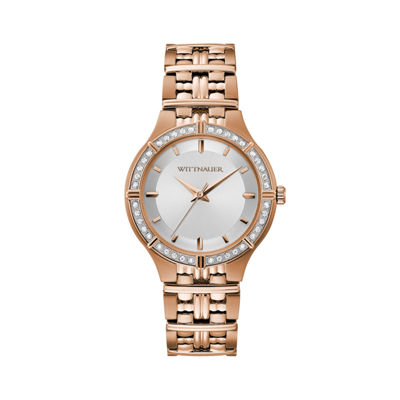 Wittnauer Womens Rose Goldtone Bracelet Watch-Wn4090