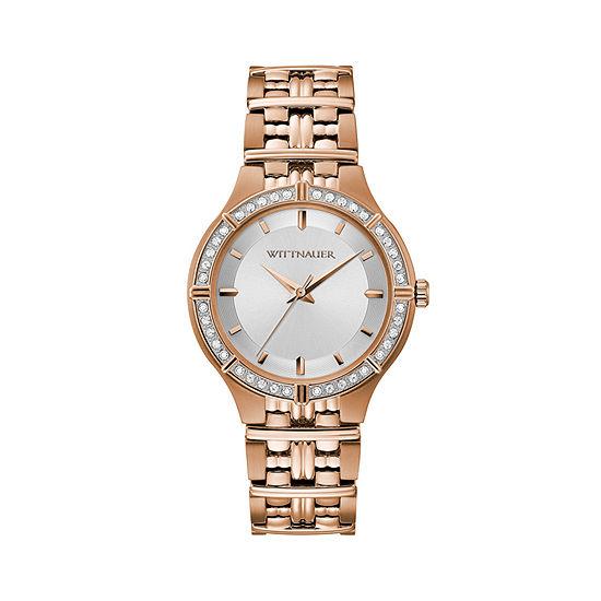 Wittnauer Womens Rose Goldtone Bracelet Watch-Wn4090