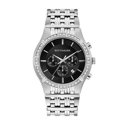 Wittnauer Mens Silver Tone Bracelet Watch-Wn3078