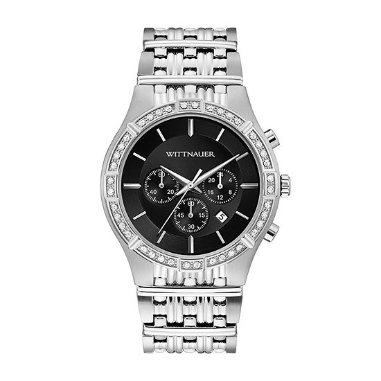 Wittnauer Mens Silver Tone Bracelet Watch Wn3078