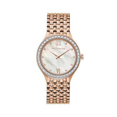 Wittnauer Womens Rose Goldtone Bracelet Watch-Wn4094