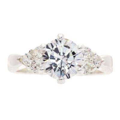 Sparkle Allure White 3-Stone Ring