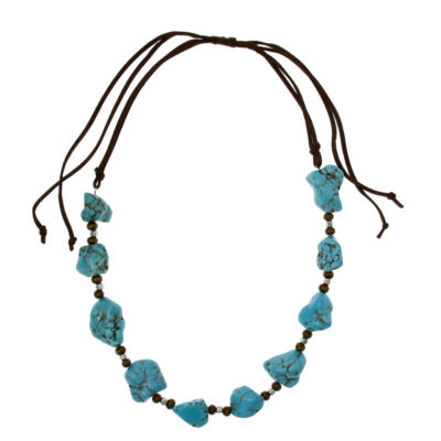 EL by Erica Lyons Silver Over Brass Beaded Necklace