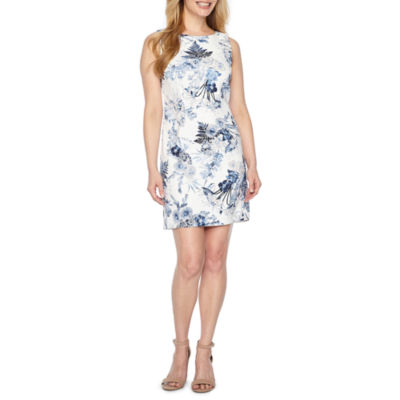 Byer California Sleeveless Floral Sheath Dress-Petites