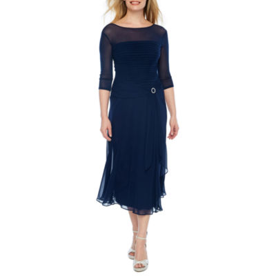Melrose 3/4 Sleeve Evening Gown-Petite