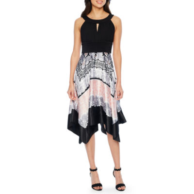 Melrose Sleeveless Abstract A-Line Dress