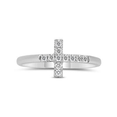 Womens 1/5 CT. T.W. Round White Diamond 14K Gold Promise Ring
