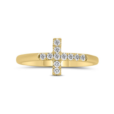 Womens 1/5 CT. T.W. Round White Diamond 14K Gold Promise Ring