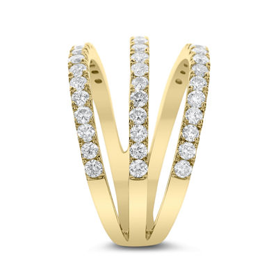 Womens 7/8 CT. T.W. Genuine White Diamond 14K Gold Cocktail Ring