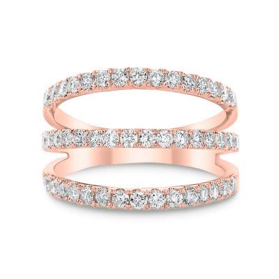 Womens 7/8 CT. T.W. Genuine White Diamond 14K Gold Cocktail Ring