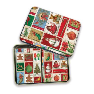 LANG Christmas Past Tin Playing Cards