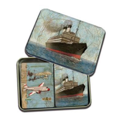 LANG Vintage Travel Tin Playing Cards