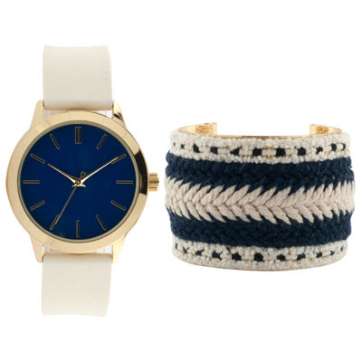 Mixit Womens Multicolor 2-pc. Watch Boxed Set-Jcp3021cst