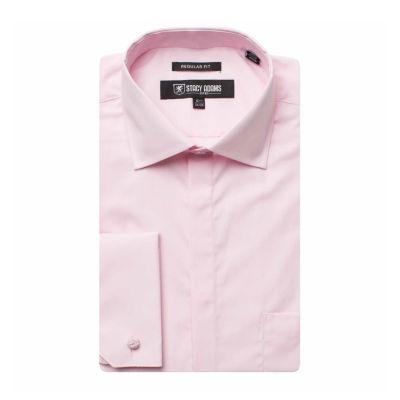 Stacy Adams Mens Point Collar Long Sleeve Dress Shirt - Big