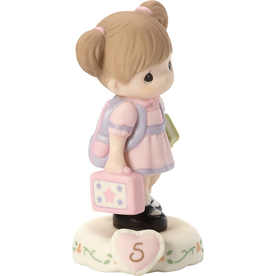 """Precious Moments  """"Growing In Grace  Age 5""""  Bisque Porcelain Figurine  Brunette Girl  #152011B"""