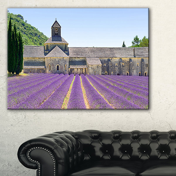 Designart Abbey Of Senanque Blooming Lavender Canvas Art