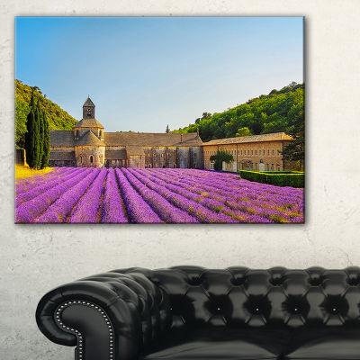 Designart Abbey Of Senanque Lavender Flowers Canvas Art