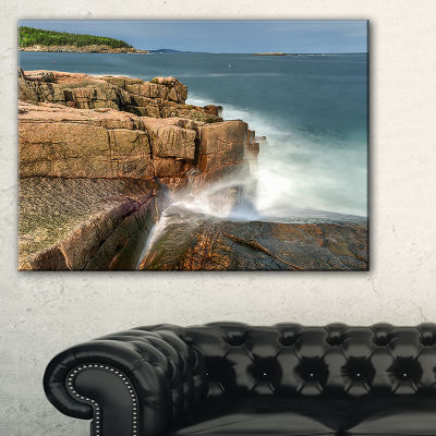 Designart Acadia National Park Coast Canvas Art