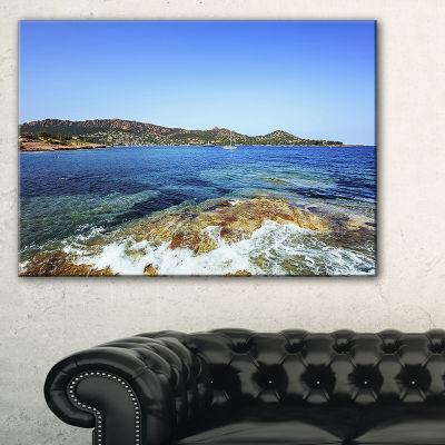 Designart Agay Bay In Esterel Rocks Beach Canvas Art