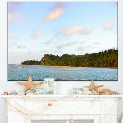 Designart Aitutaki Lagoon Large Panorama Canvas Art