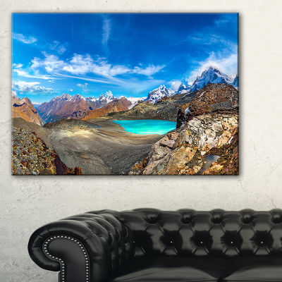 Designart Alps Mountains In Swiss Panorama Canvas Art