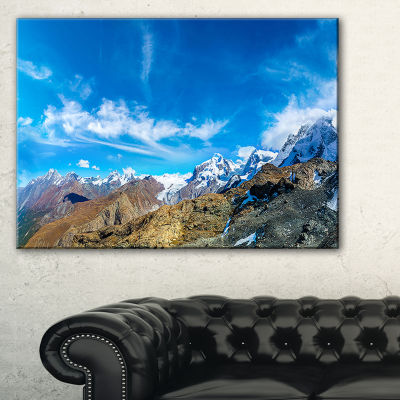 Designart Alps Mountains In Switzerland Canvas Art
