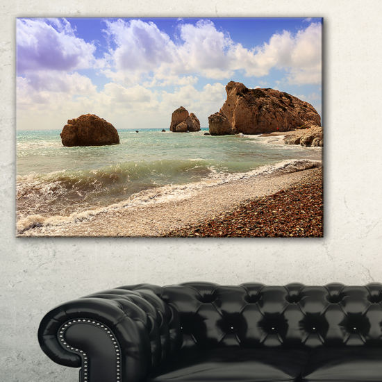 Designart Amazing Aphrodite S Rock In Cyprus Canvas Art
