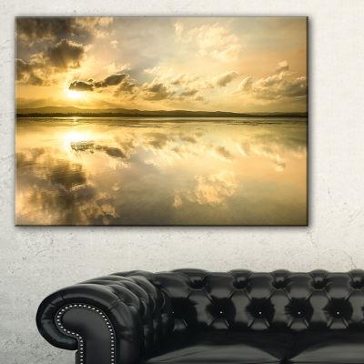 Designart Amazing Foreshore Reserve Reflection Canvas Art