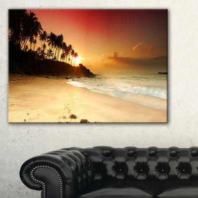 Designart Amazing Sunset And Beach In Sri Lanka Canvas Art