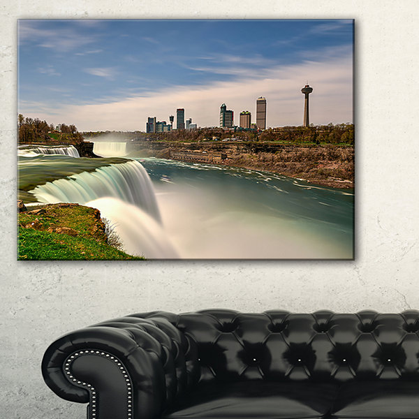 Designart American Falls At Niagara Falls Canvas Art