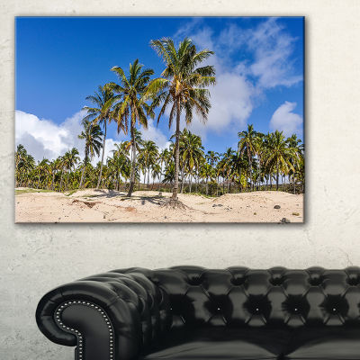 Designart Anakena Beach In Easter Island Canvas Art