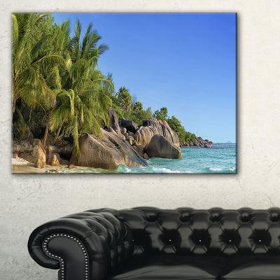 Designart Anse Lazio Praslin Island Seychelles Canvas Art