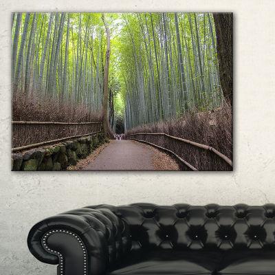 Designart Arashiyama Bamboo Path Japan Canvas Art