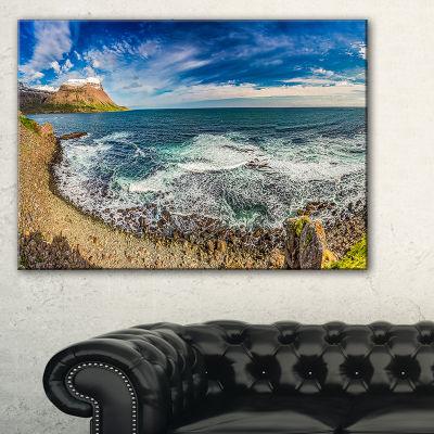 Designart Arctic Sea And Coastline Panorama Canvas Art