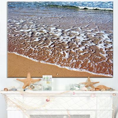 Designart Ashdod Israel Clear Seashore Canvas Art